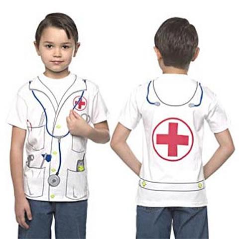 camiseta infantil estampa médico