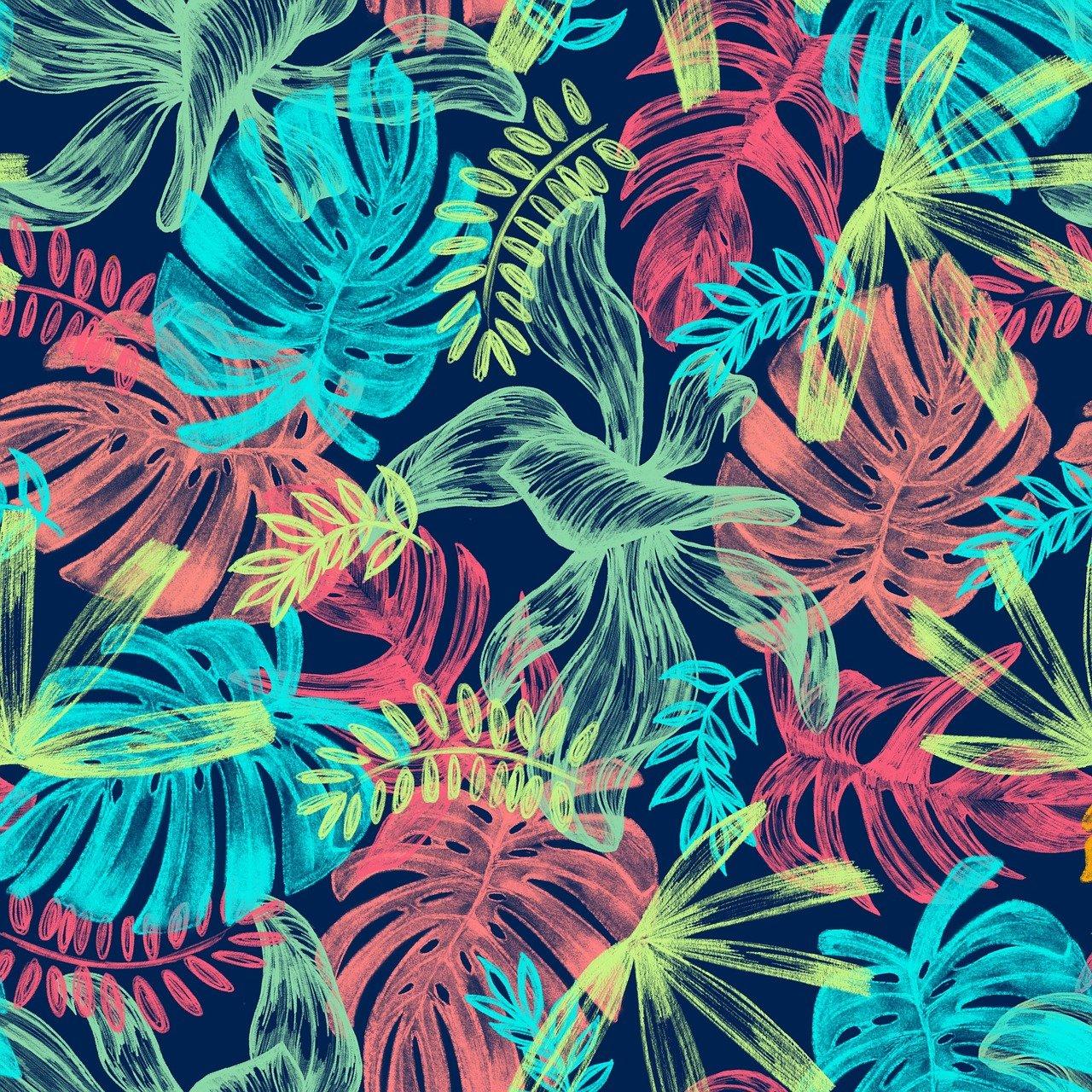 estampa unissex tropical